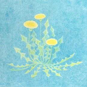 春のイラストレーション「たんぽぽ」