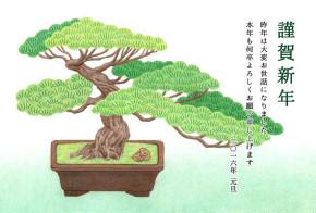 年賀状素材「盆栽」