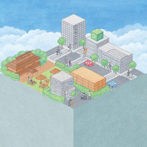 緑をつなぐプロジェクト つながる街1
