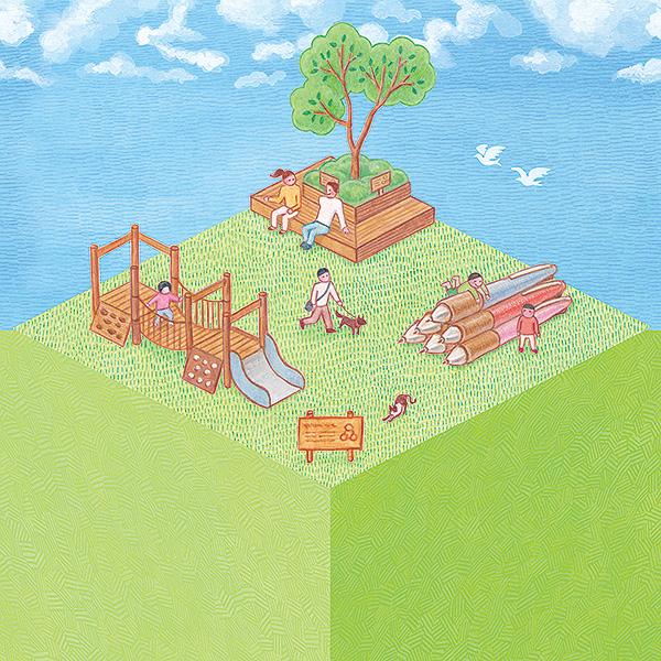 緑をつなぐプロジェクト 木材の使用