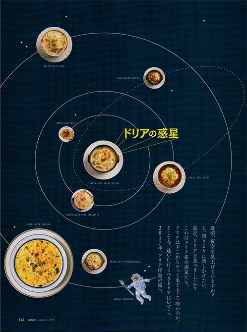 dancyu 2017年1月号「ドリアの惑星」