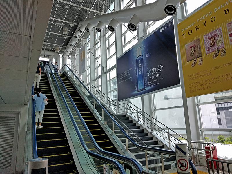 東京モノレール羽田空港線 羽田空港国際線ビル駅の浜松町方面ホーム エレベーター横