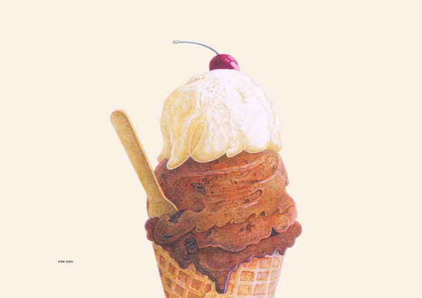 H'or Cafe Poster Ice Cream