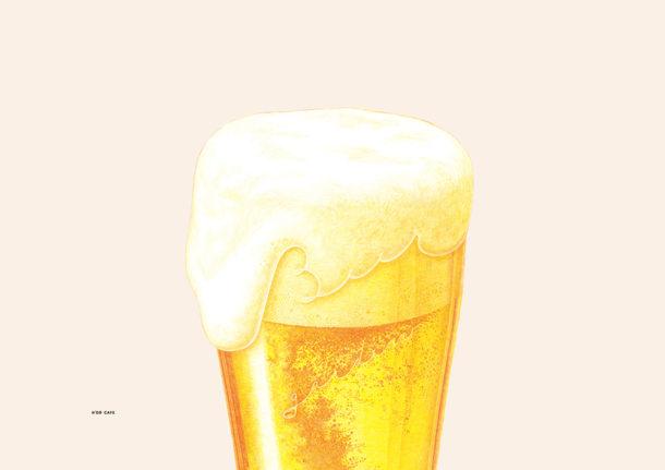 H'or Cafe Poster Beer garden