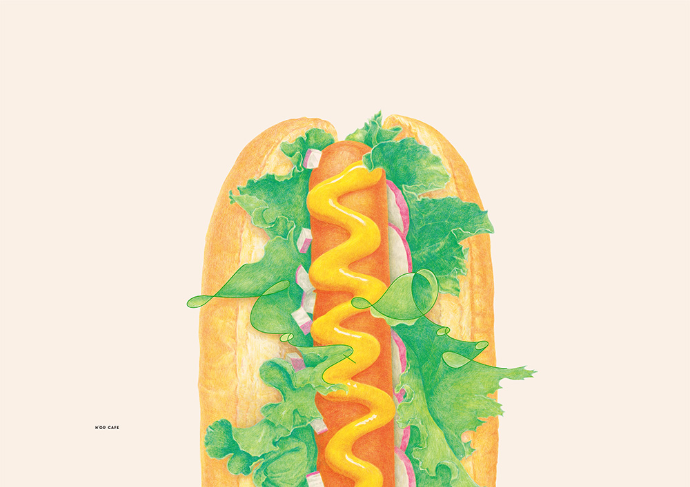 H'or Cafe Poster Hot Dog