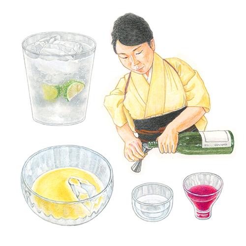 dancyu 2019年3月号 日本酒特集 イラストカット3