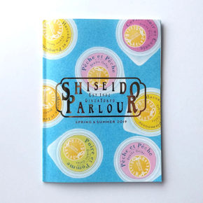 資生堂パーラー2019春夏総合カタログの表紙と中面見開きのイラストレーションを担当