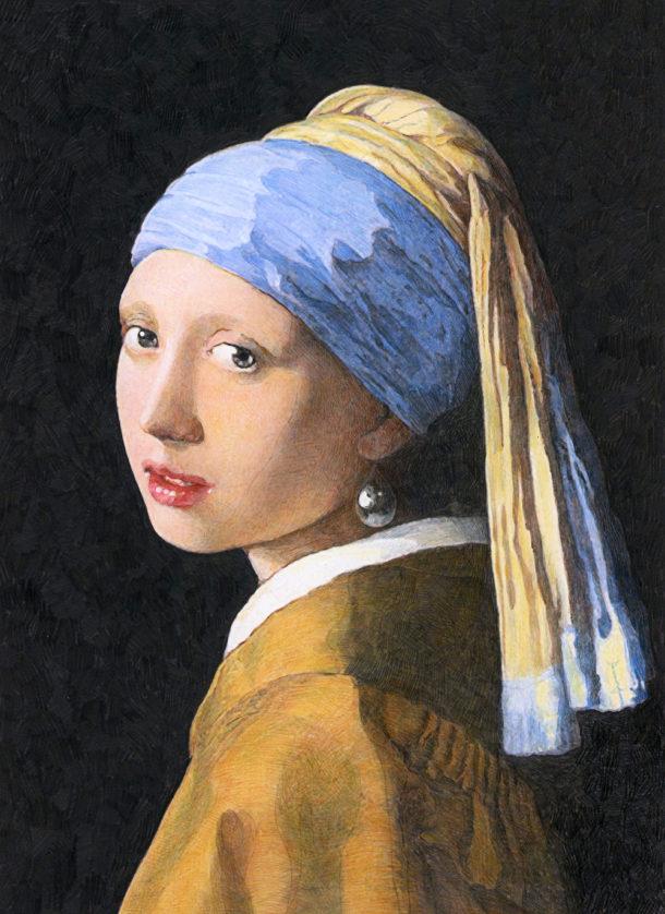 家の光2019年7月号付録塗り絵青いターバンの少女