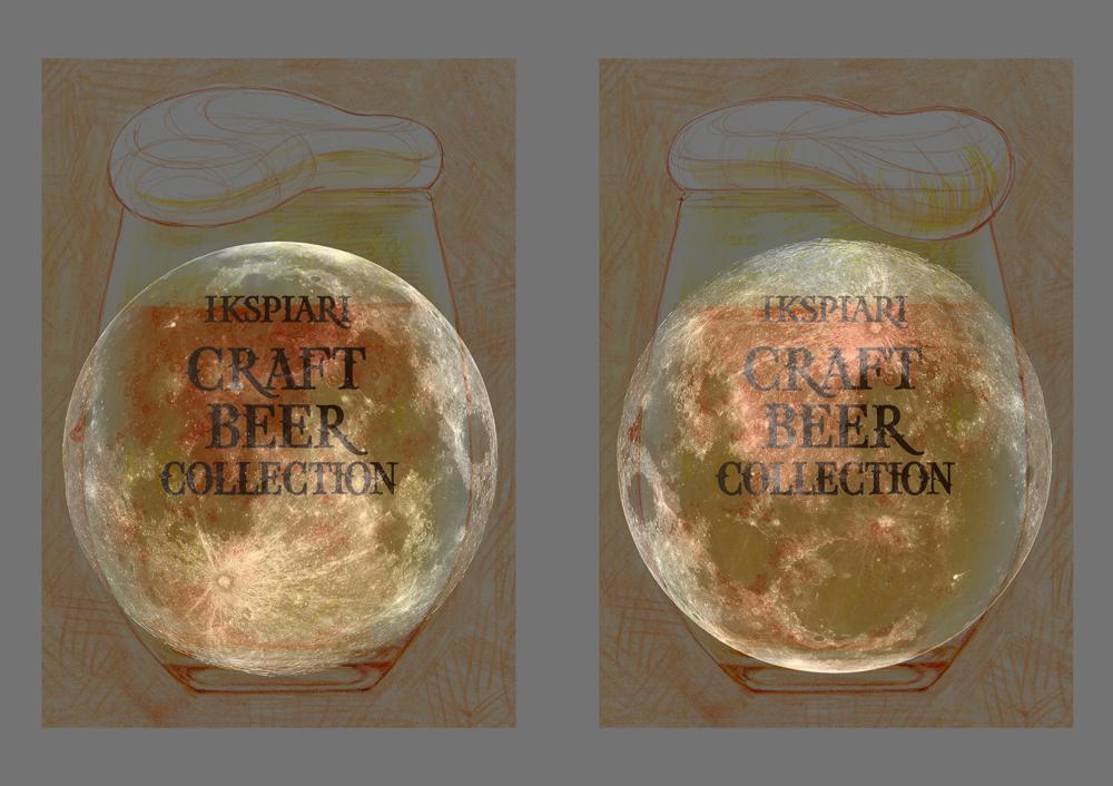 イラスト ラフ3(ビール泡の形)