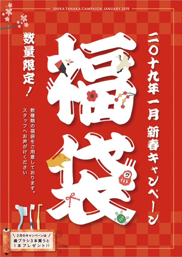 歯科医院キャンペーンポスター「2019年1月福袋」
