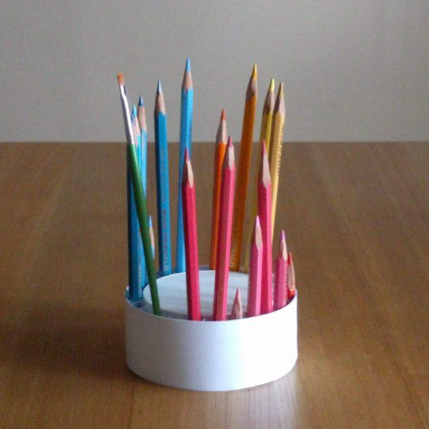 回転式色鉛筆立て