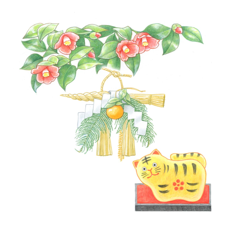 暮らしを楽しむ二十四節気手帖12月カレンダー「椿・正月事始め」