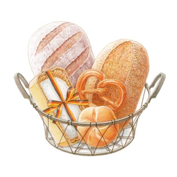 ドイツパン イラストレーション