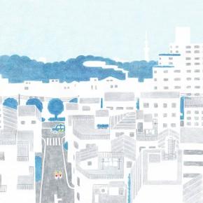 小石川植物園を望む