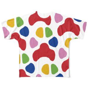 WON CHANCE補助犬サポートTシャツ「犬ノ足アトRed-A」