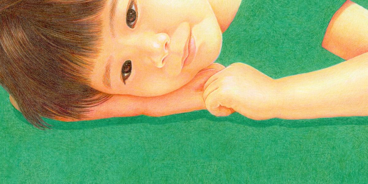 色鉛筆画「まだかな〜お出かけケーキ〜」